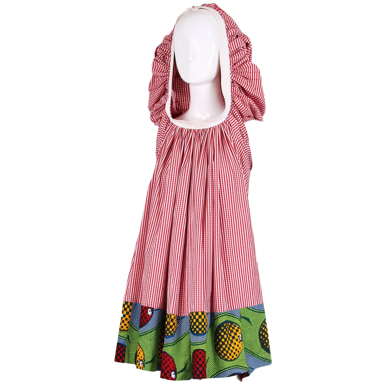 2007 Junya Watanabe for Comme des Garcons Sleeveless Hooded Print Dress