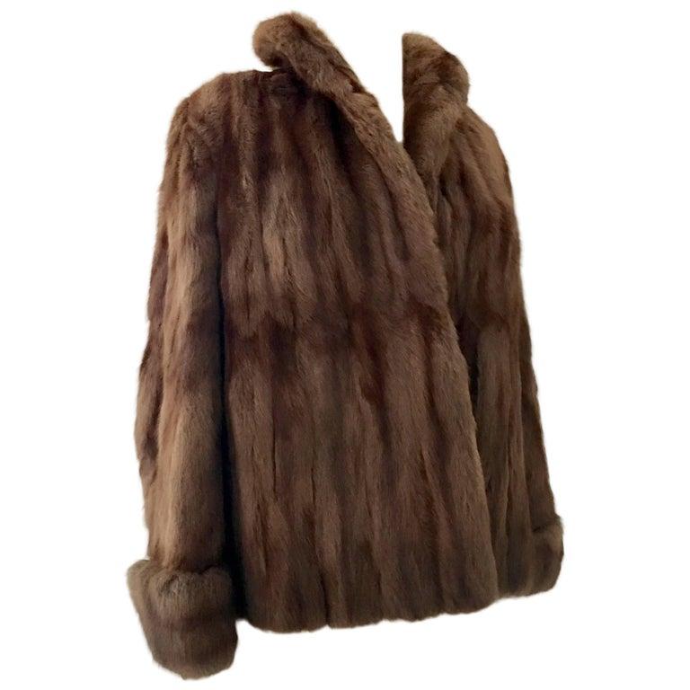 1960'S Chocolate Mink Fur Jacket
