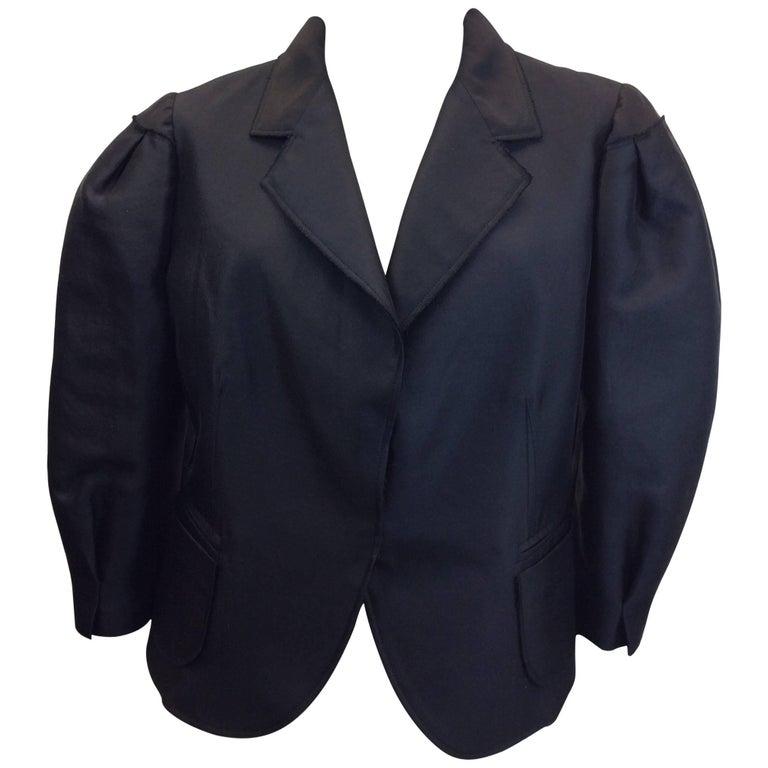 Prada Black Cropped Blazer