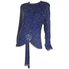 Petite Royal Blue Sequin Top