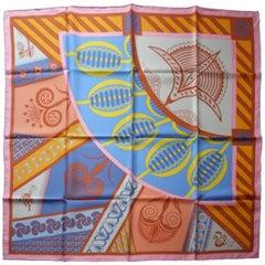 Hermès Made in France Géometrie Crétoise scarf silk 90 cm / BRAND NEW