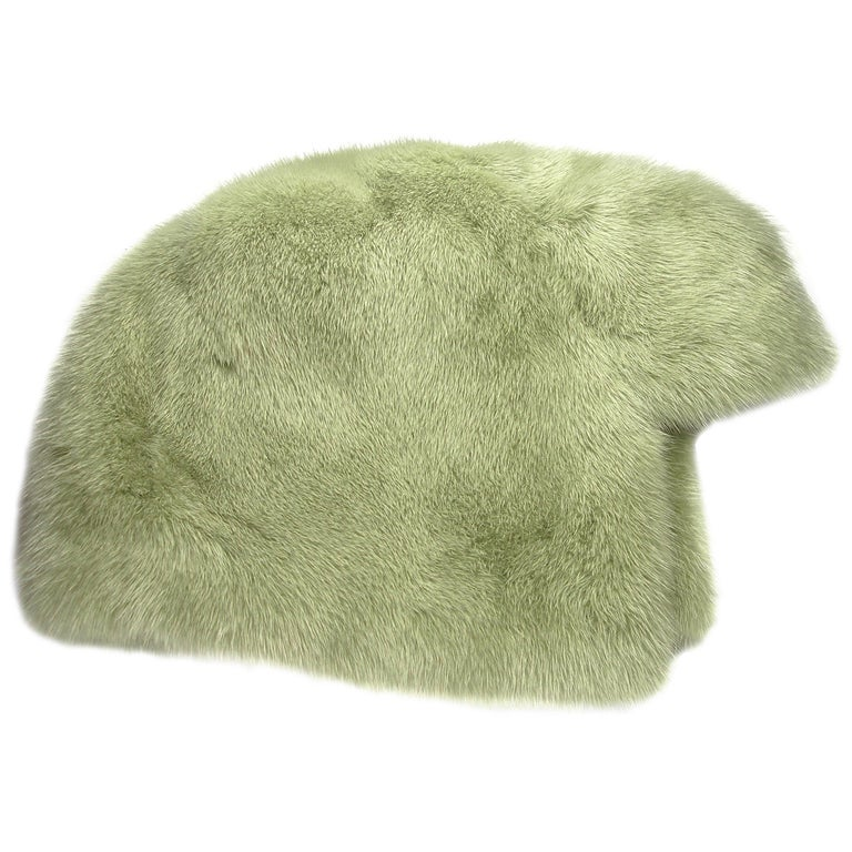RARE The Anna Wintour Chanel's Hat Chapka Fox Fur One Size Rétail price 3450 €