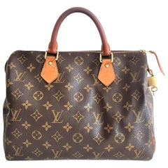 Louis Vuitton Speedy 30 Monogram Handbag Purse