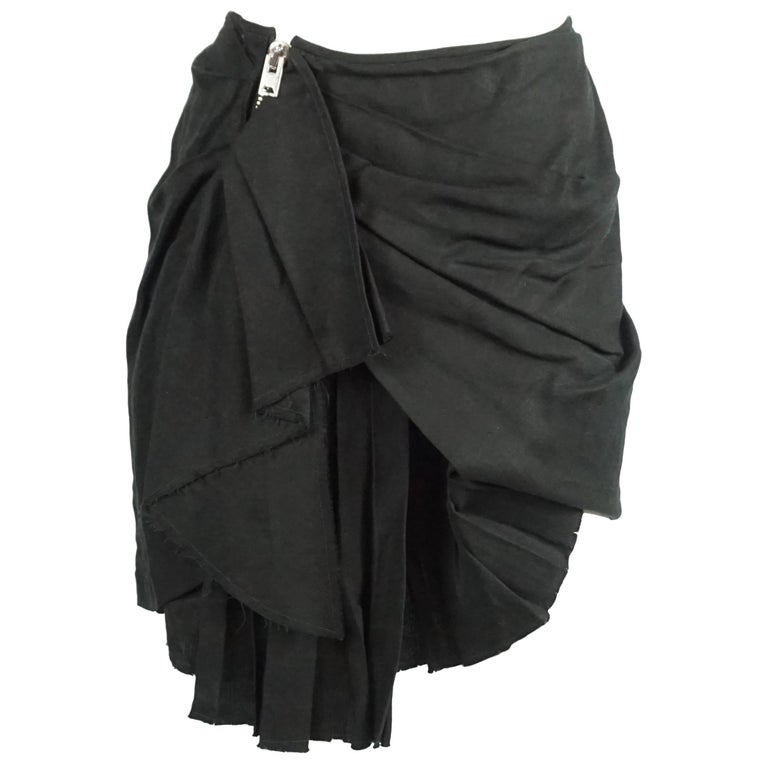 Isabel Marant Black Deconstructed Asymmetrical Skirt - 3