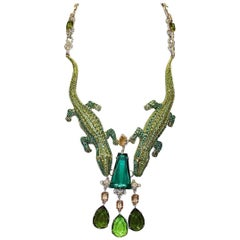 Carlo Zini Milano Crocodiles Necklace