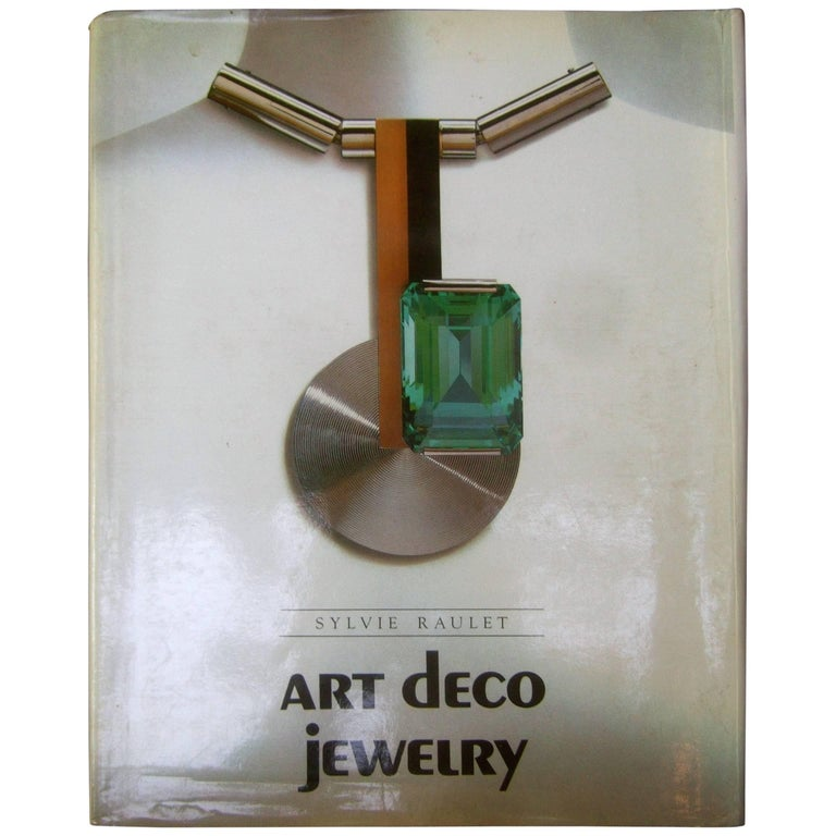 Book Cover Art Deco : Art deco jewelry hard cover book by sylvie raulet for
