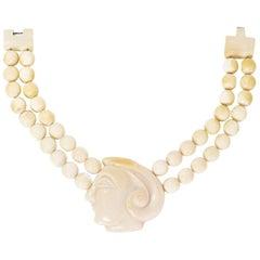 Patricia Von Musulin Ivory Pendant Necklace