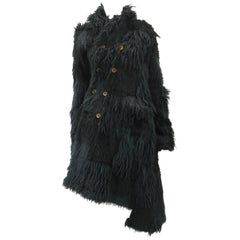 Comme des Garcons Faux Fur Asymmetrical Coat 2002
