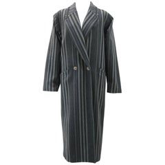 Gianni Versace Menswear Inspired Striped Wool Coat