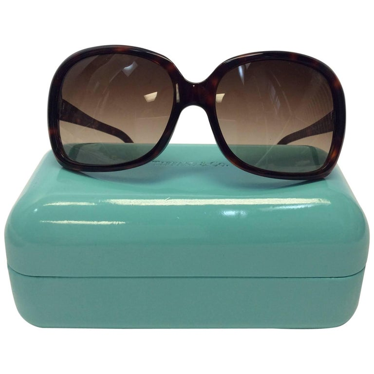 Tiffany And Co Brown Tortoise Sunglasses For Sale At 1stdibs