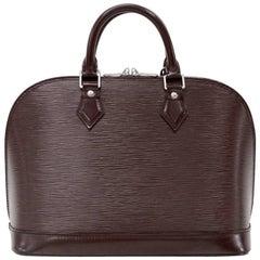 Louis Vuitton Alma Brown Moca Epi Leather Hand Bag