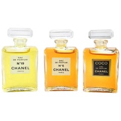Chanel Vintage Rare Three Piece No 5 No 19 CoCo Eau de Perfume Gift Set in Box