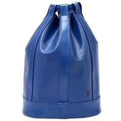 Vintage Louis Vuitton Randonnee Blue Epi Leather Shoulder Bag