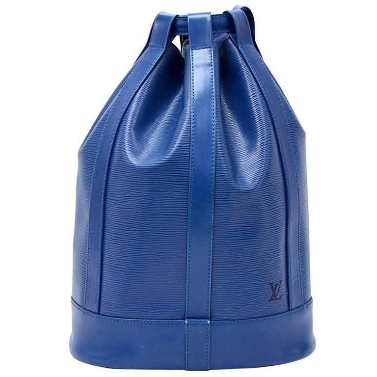 Vintage Louis Vuitton Randonnee Blue Epi Leather Shoulder Bag
