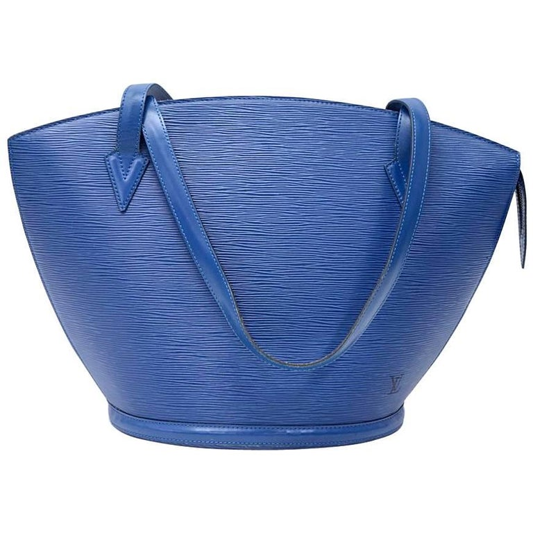 Vintage Louis Vuitton Saint Jacques GM Blue Epi Leather Shoulder Bag