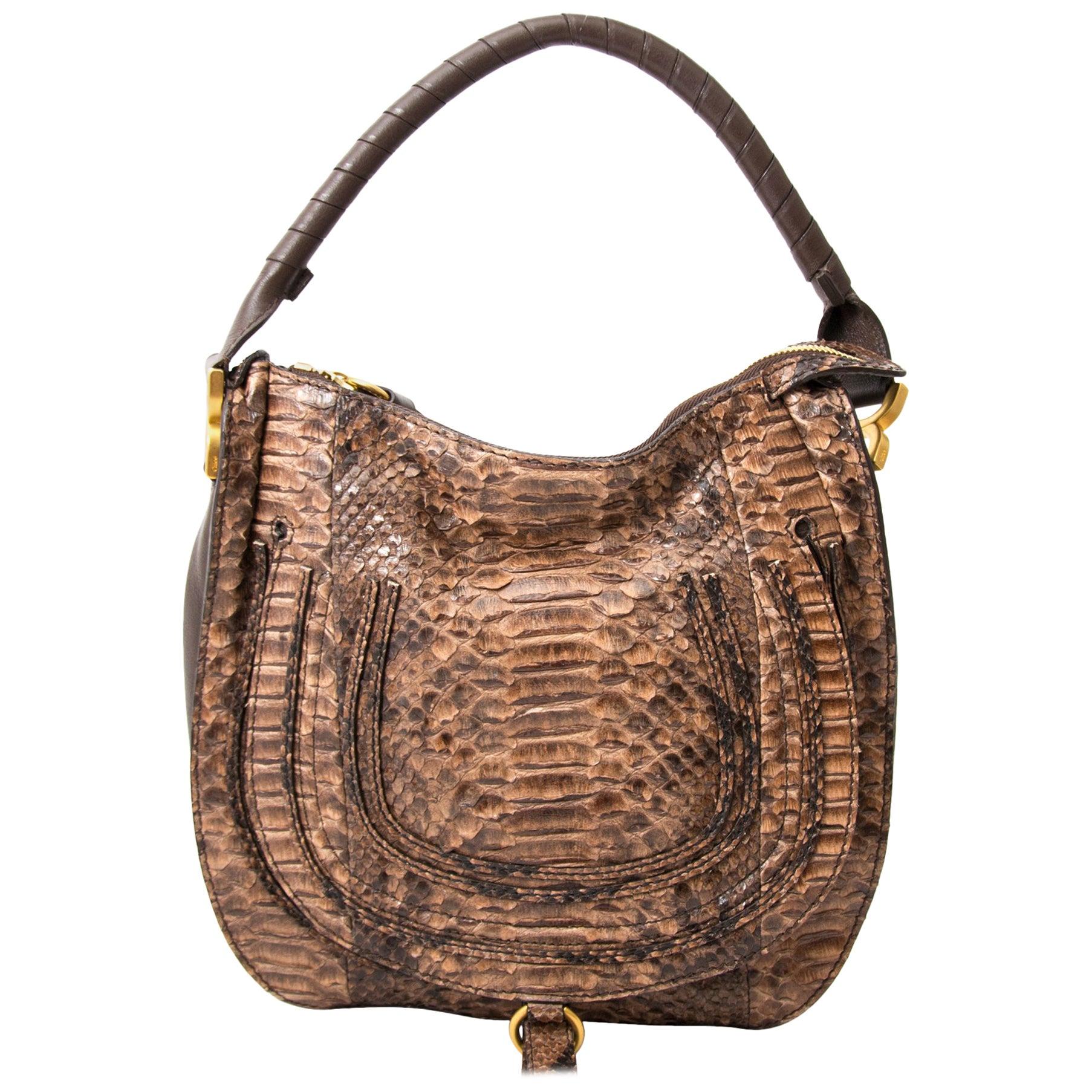Chloé Python Marcie Satchel Bag