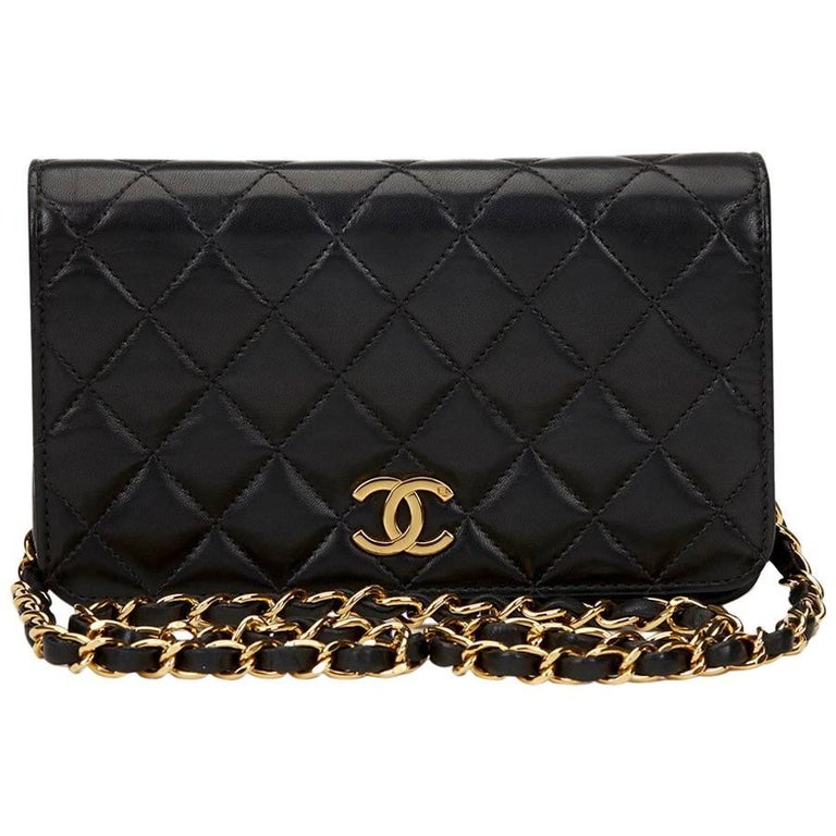 2f7406811a758d 1990s Chanel Chanel Black Quilted Lambskin Vintage Mini Flap Bag For Sale