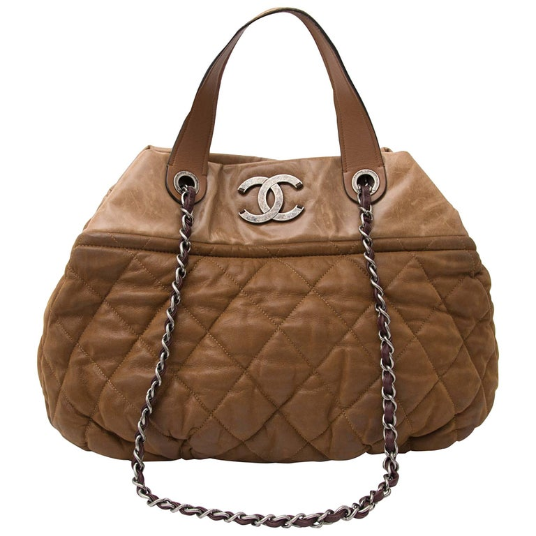 4e4c1023fb93 Chanel  In The Mix  Brown Large Tote at 1stdibs