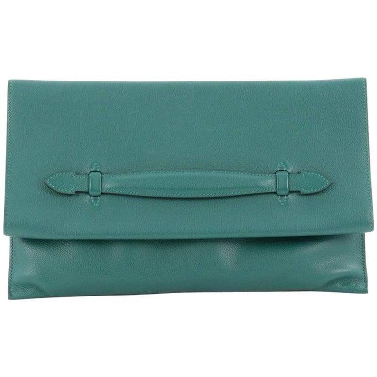 Hermes Pliplat Clutch Evercolor