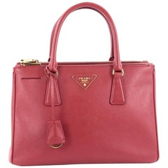 Prada Double Zip Lux Tote Saffiano Leather Small
