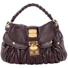 Miu Miu Coffer Convertible Hobo Matelasse Leather