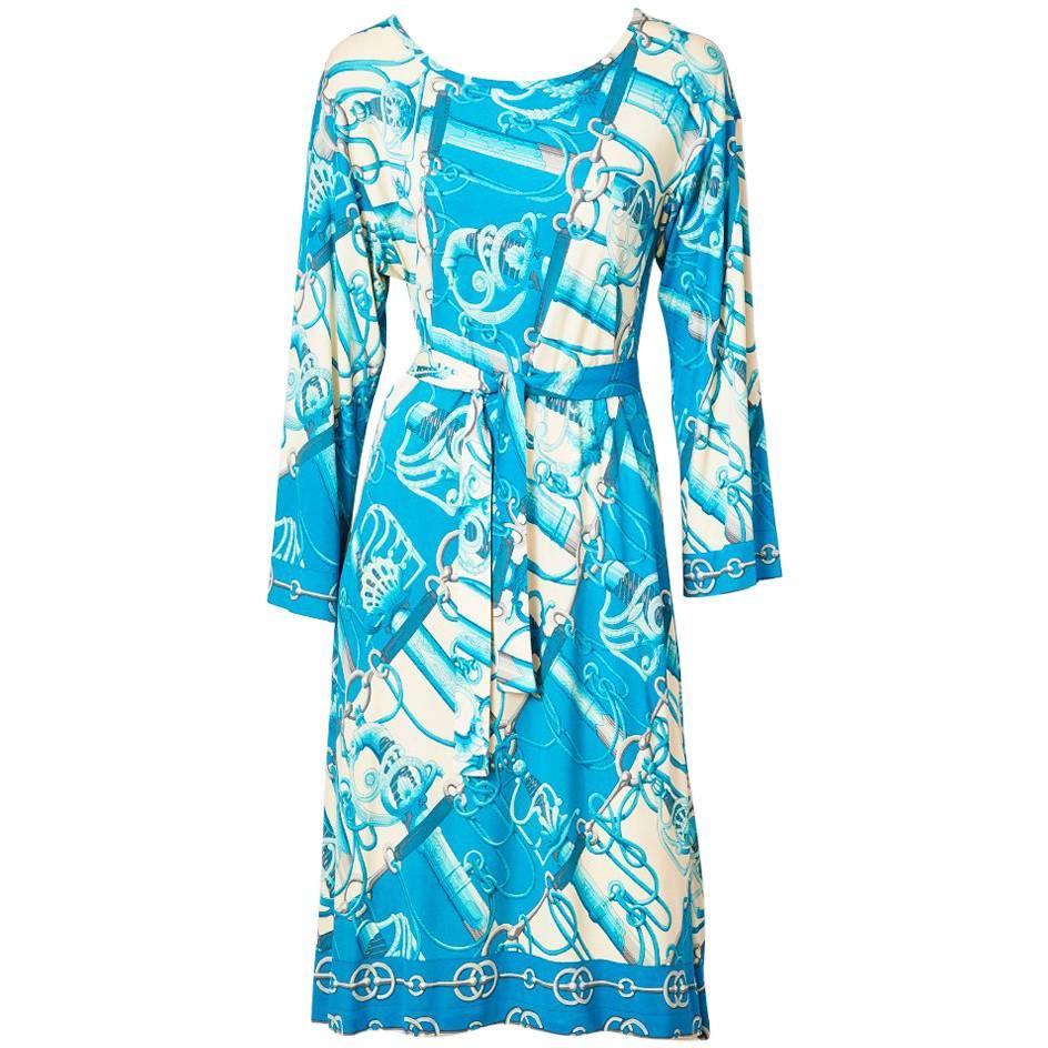 Hermes Silk Knit Day Dress