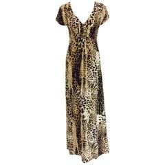 Radiant Roberto Cavalli's Leopard Print Inspired Informal Long Dress