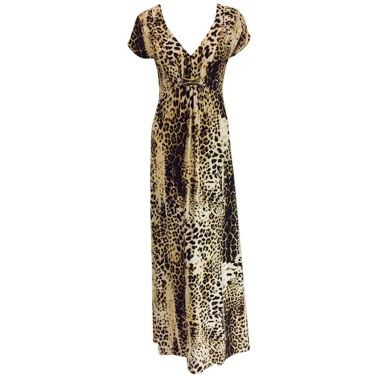 Radiant Roberto Cavalli's Leopard Print Inspired Informal Long Dress
