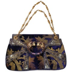 ICONIC Tom Ford Gucci 2004 Leather Velvet Crystal Runway Dragon Bag