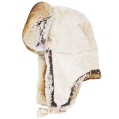 Lanvin Chinchilla & Lamb Fur Trapper Hat Sz 58