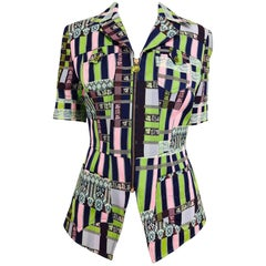 Christian Lacroix Bazar zipper front Short sleeve jacket 1980s