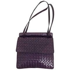 Bottega Veneta vintage 1980s intrecciato soft purple leather handbag 1980s