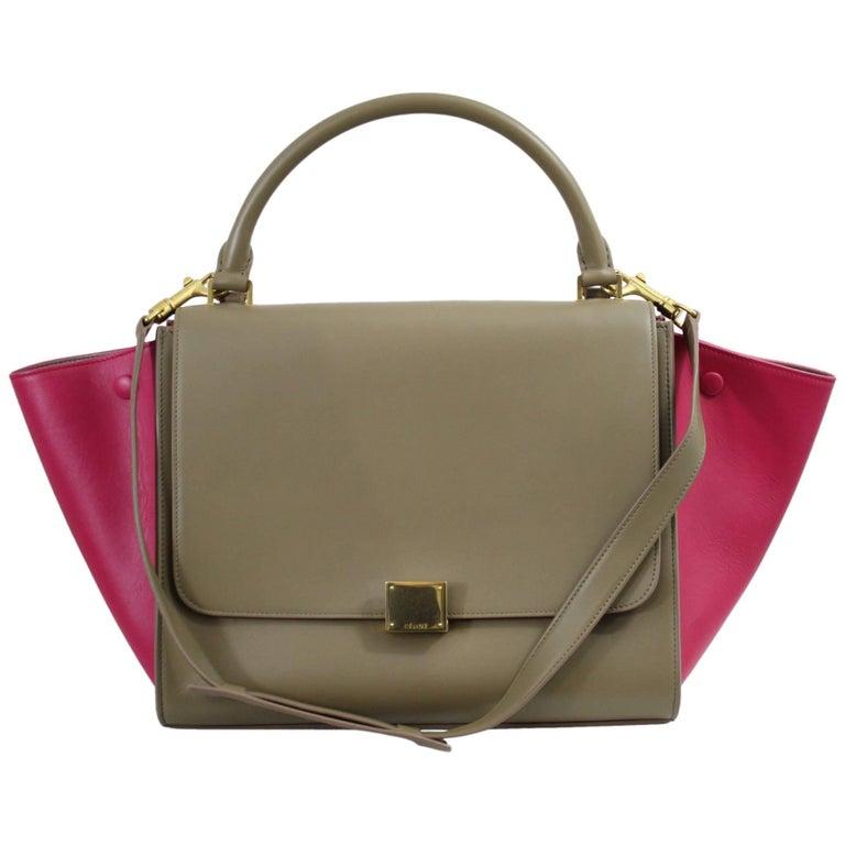 Lovely Celine Trapeze Handbag with Shoulder Strap