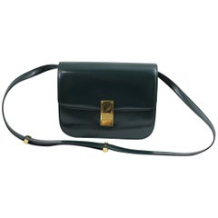 Celine Classic Flap Dark Green Bag