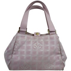 Chanel Pink Canvas Vintage Bag. Fair Condition