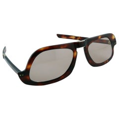 Pierre Cardin Vintage Rare Asymetrical Folding Sunglasses