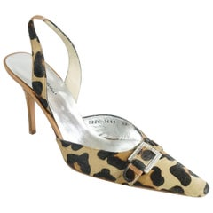 Dolce & Gabbana Animal Print Pony Hair Heels - 40