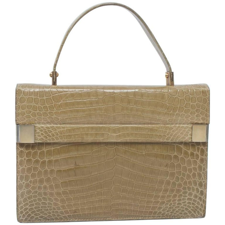 1960s Crocodile Handbag
