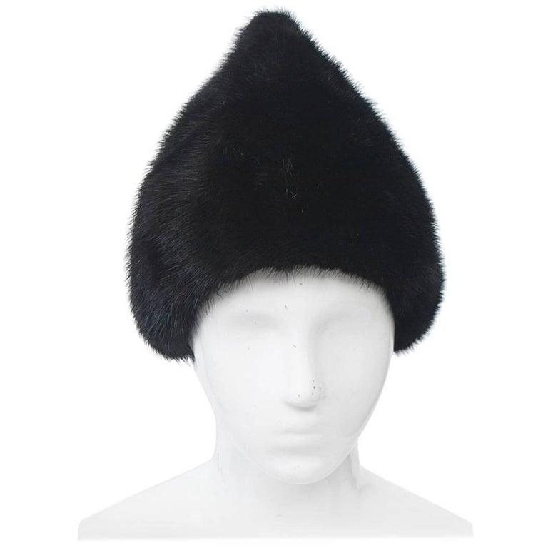 Peaked Mink Hat