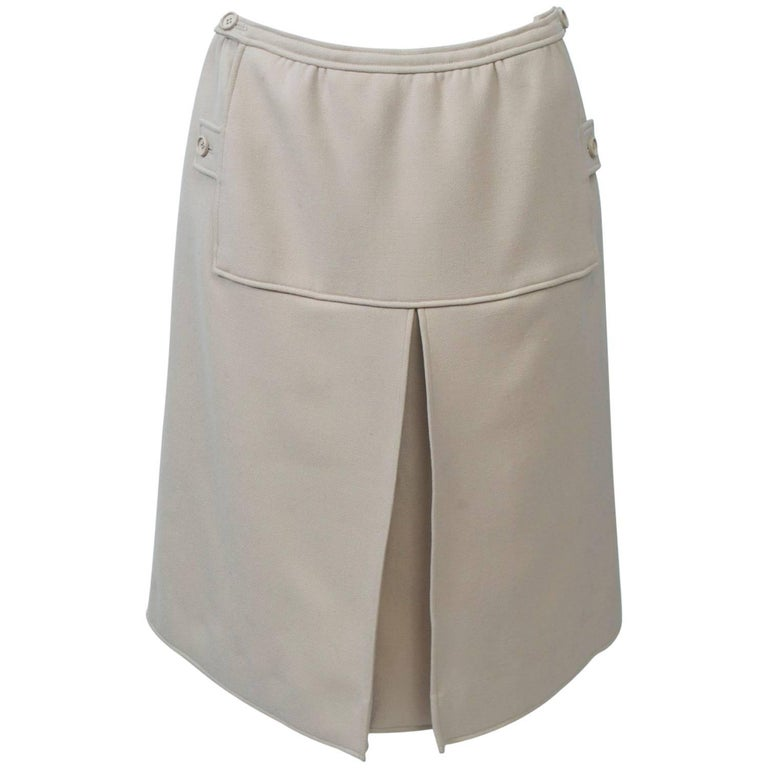 Courrèges Beige Skirt