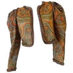 1970s Muriel Grateau Paisley Puff Sleeve Jacket