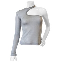 Dolce & Gabbana Silver Mesh One Shoulder Top