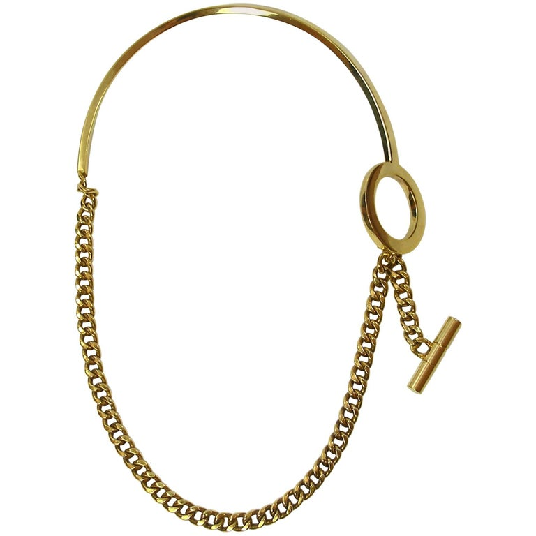 FAN-TASTIC Tom Ford Gold Jewerly Necklace / Good Condition  For Sale