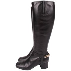 Gucci Lifford Malaga Knee-high Boots - black