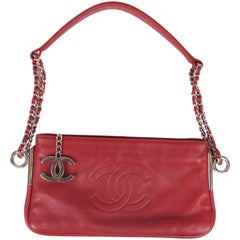 Chanel Clutch - dark red leather