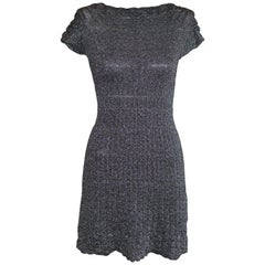 M Missoni Silver Grey Metallic Dress 40 (ITL)