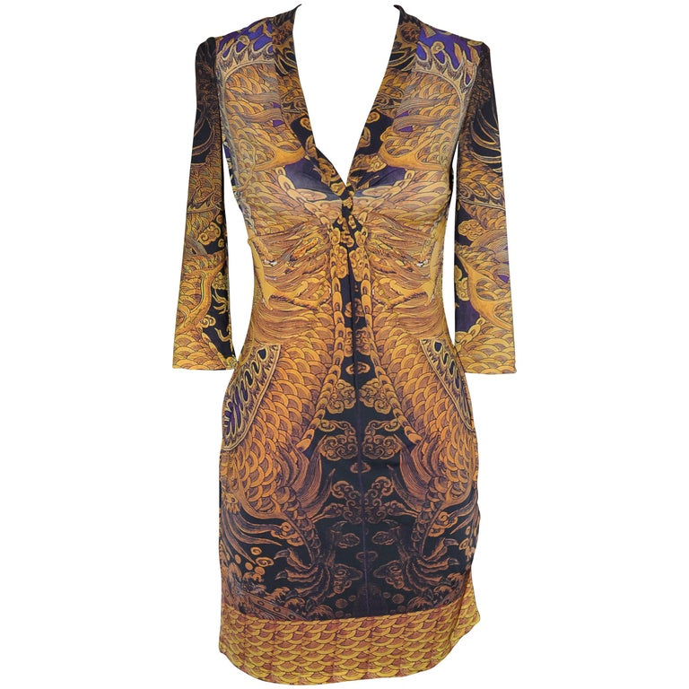 Roberto Cavalli 2009 Baroque Print Dress (42 ITL)