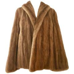 1950'S Mink Fur Swing Coat