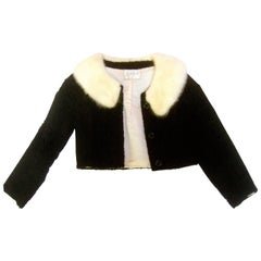 Chic Mink Collar Cropped Broadtail Jacket from Amelia Gray Beverly Hills