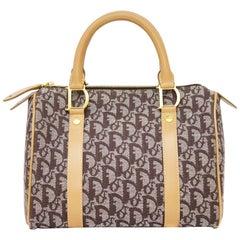 1990's Christian Dior Brown Logo Speedy Bag